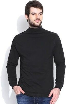 Dream Of Glory Inc. Solid Men's Turtle Neck T-Shirt - Buy Black Dream Of Glory Inc. Solid Men's Turtle Neck T-Shirt Online at Best Prices in India | Flipkart.com