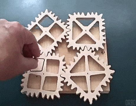 """trigonometry-is-my-bitch: """"Square gears [Fixed] """""""