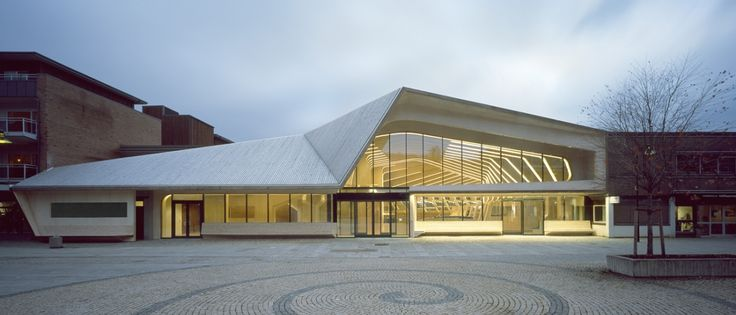 Vennesla Library, Norway. Designed by Helen and Hard Agency. The building combines a library, cafe, meeting spaces and administrative areas. EA.