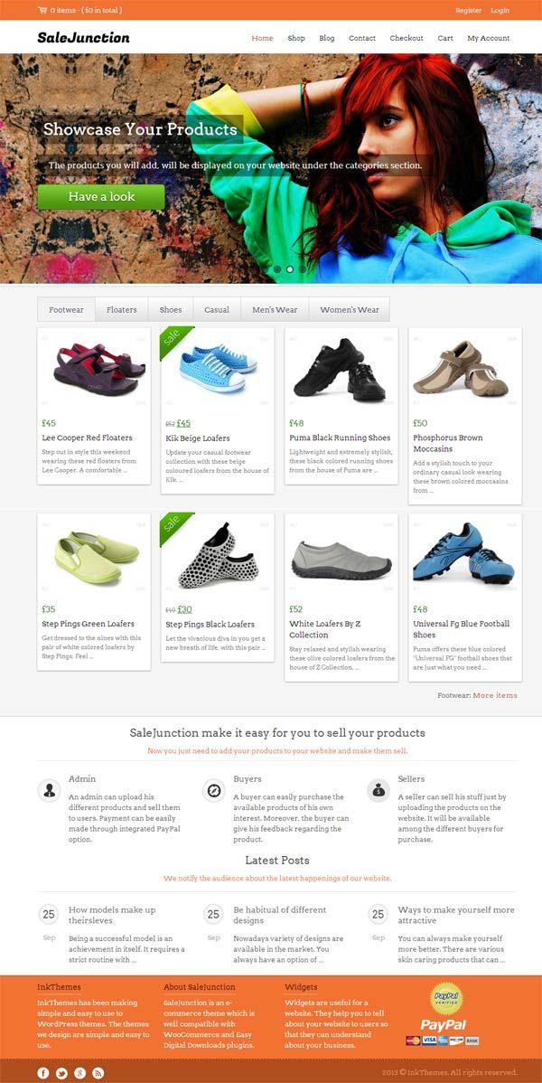 SaleJunction WordPress Theme Review - InkThemes eCommerce WP Theme
