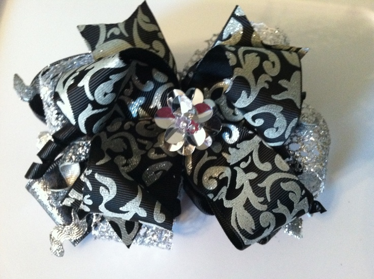 New Years hair bow