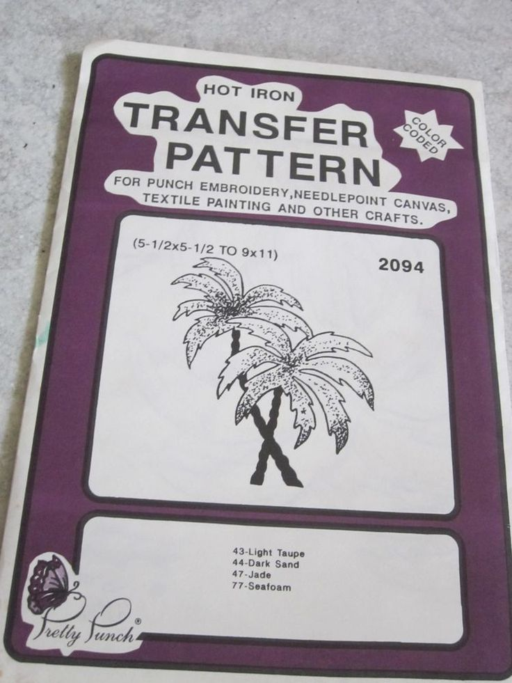 Iron on Transfer Pattern - Pretty Punch Palm trees #2094