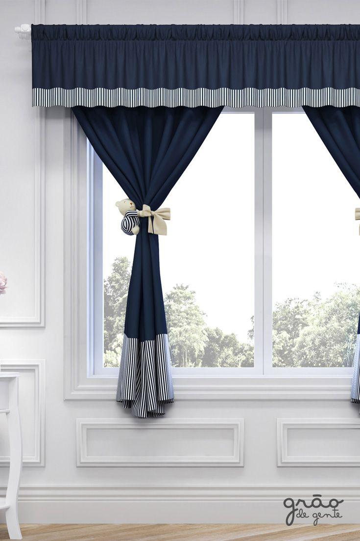 d60a14b3fe Para completar a decoração do quarto do seu bebê a Cortina Luxo Azul  Marinho é a