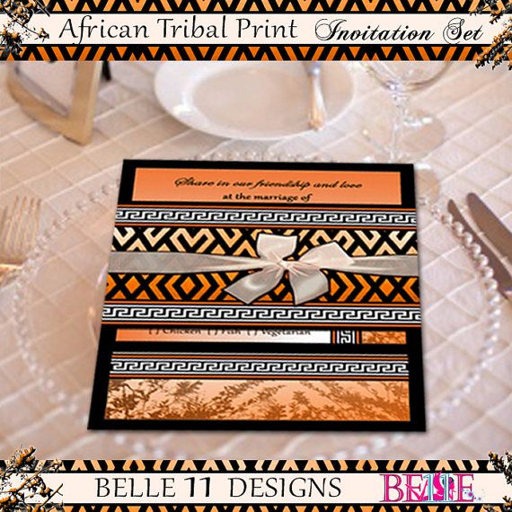 African Theme Printable Wedding Invitation  by Belle11Designs, $20.50