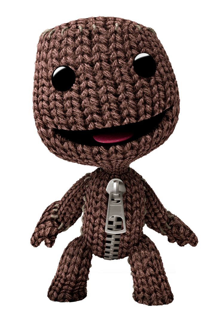 Sackboy from Little Big Planet - I kind of want to learn to knit just so I can make this.