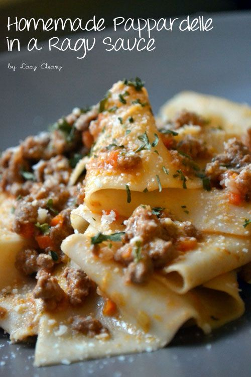 Homemade Pappardelle in a Ragu Sauce   New York City Eats