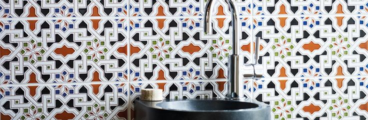 ... we added these beautiful Granada tiles as a splash. No further decoration needed!