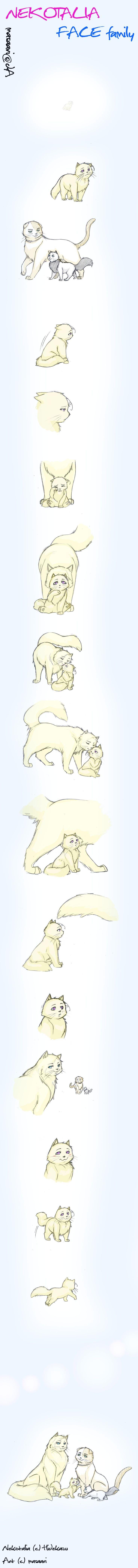 Errrrr. by masaari.deviantart.com on @deviantART - A very cute Neko!FACE family fan-comic :)