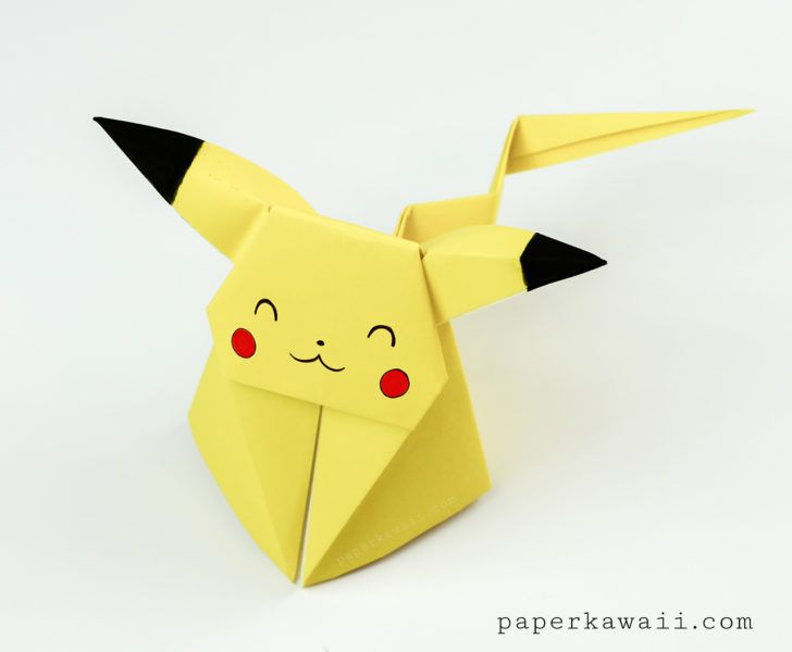 Origami Pikachu Tutorial – Cute Origami Pokemon!                                                                                                                                                                                 More