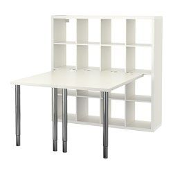 KALLAX Workstation - white - IKEA $311 would make a great kitchen table if we want/have the space