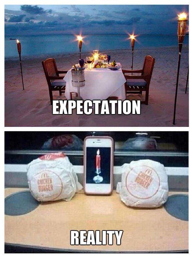 Valentine S Day Expectation Vs Reality Viraluck Valentines Day Memes Valentines Memes Valentines Day Funny