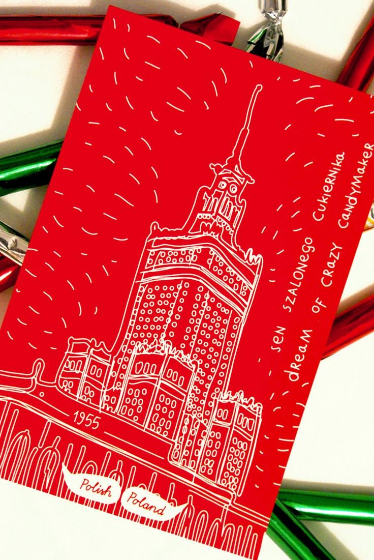 sweet dream in Warsaw  postcard from Poland www.polishpoland.eu $1.50
