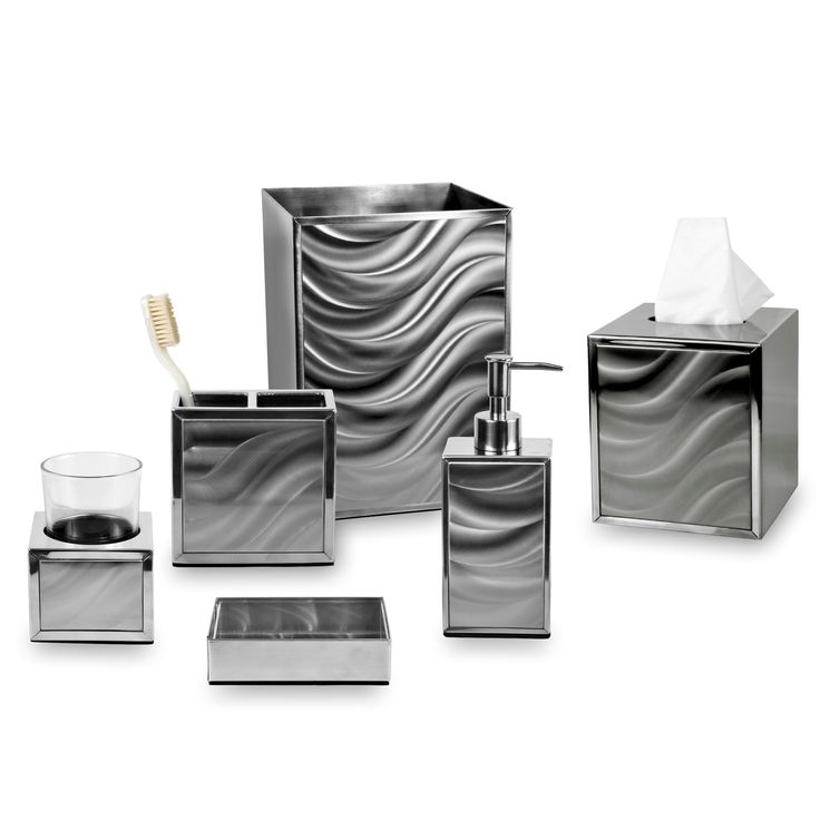 The Moire Bath Collection Is A Contemporary Bath Ensemble With A Unique  Moire Silver Finish. Each Piece Of This Set Is Sold Separately Which  Includes A ...