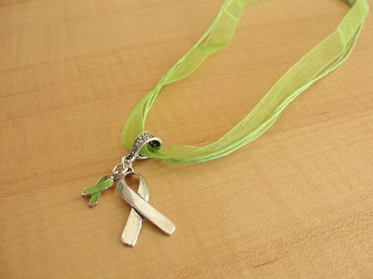 Lime Green Awareness Necklace - Muscular Dystrophy, Lyme Disease, Non-Hodgkins Lymphoma, Duchenne Muscular Dystrophy DMD
