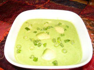 Crème de pois verts