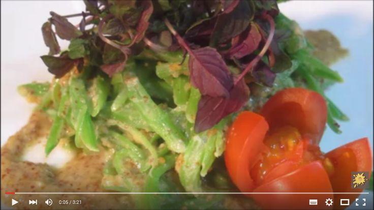 Receta Ensalada de judías verdes con salsa de cacahuete, ensalada vegana http://www.ledestv.com/es/aficiones/veganos/video/receta-ensalada-de-judias-verdes-con-salsa-de-cacahuete-ensalada-vegana/810