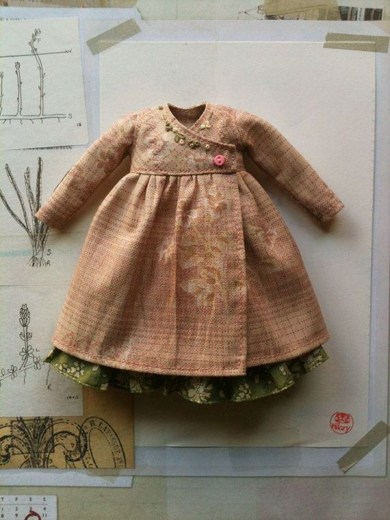 Cache Coeur Dress set for Blythe-Pink and Green