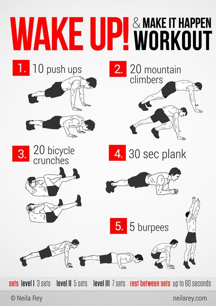 Some quick no equipment workouts