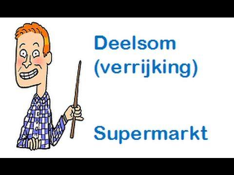 Leren met meneer Frans - Delen (Supermarkt) - Groep 8 (Verrijking)