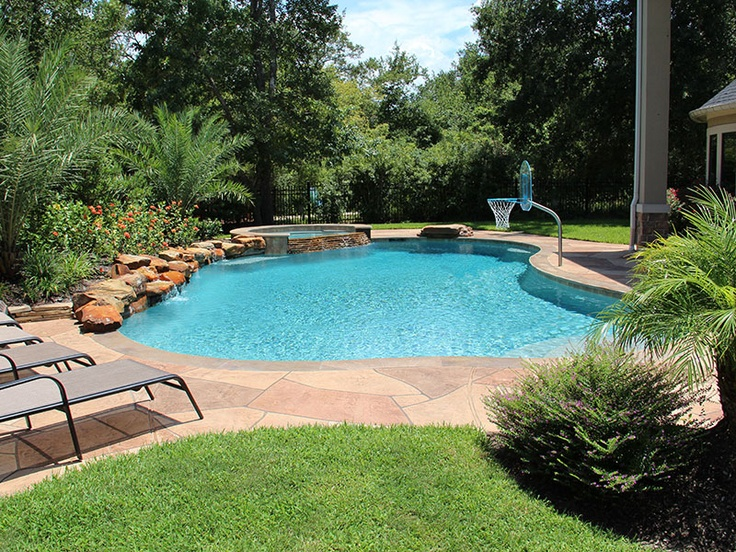 1000 images about backyard pool and landscape ideas on Cheap pool landscaping ideas
