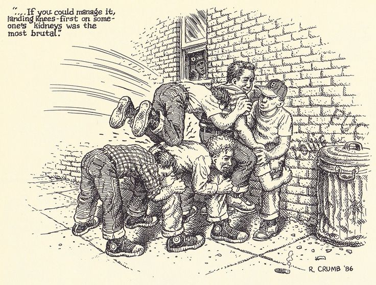 "Robert Crumb - 1986 From ""R. CRUMB - Miettes"" - Editions du Seuil Paris 2001"