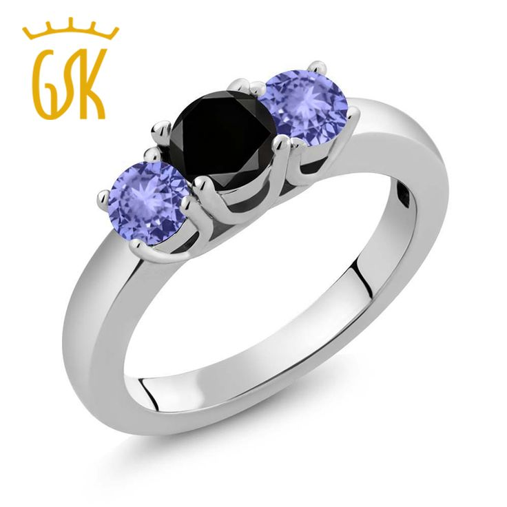 Women 1.15 CT 925 Sterling Silver Round Black Diamond Ring //Price: $277.99 & FREE Shipping //     #fashionaccessories