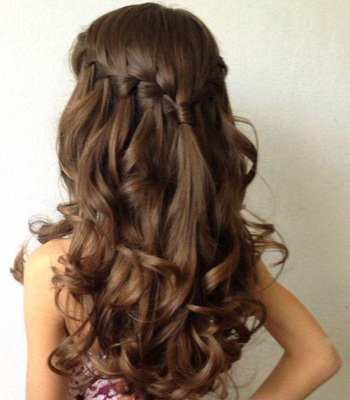 coiffure parfaite pour votre petite princesse, jolies boucles et tresse