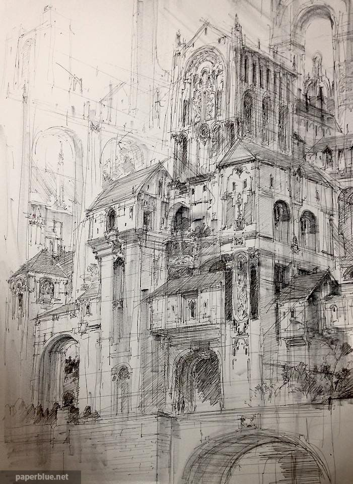 Paperblue Fantasy style Castle Sketch - Paperblue Gallery2 - Paperblue