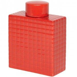 vase rouge design cube c ramique muranu nomad fleur et vase objet de d co d coration. Black Bedroom Furniture Sets. Home Design Ideas