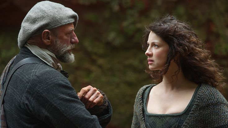 STARZ - Outlander - A STARZ Original Series, Season 1-6  Dougal and Claire (in very functional knitware)  Summer 2014