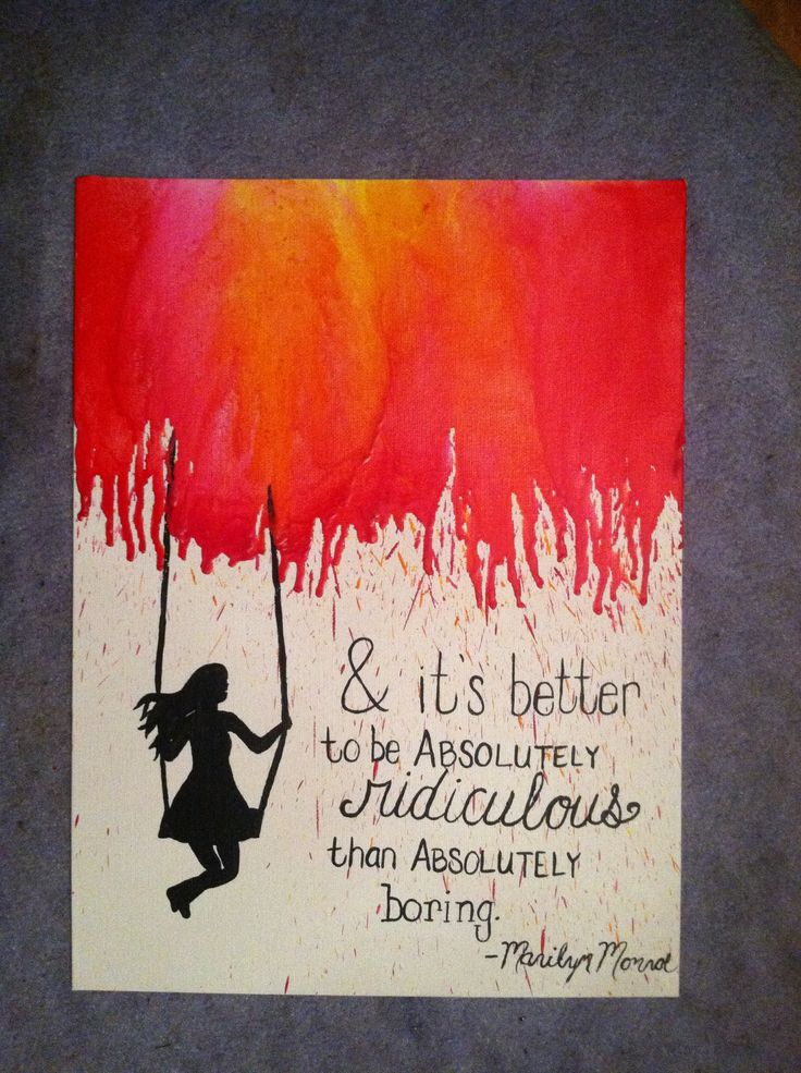 Crayon art with quote? Not this quote though