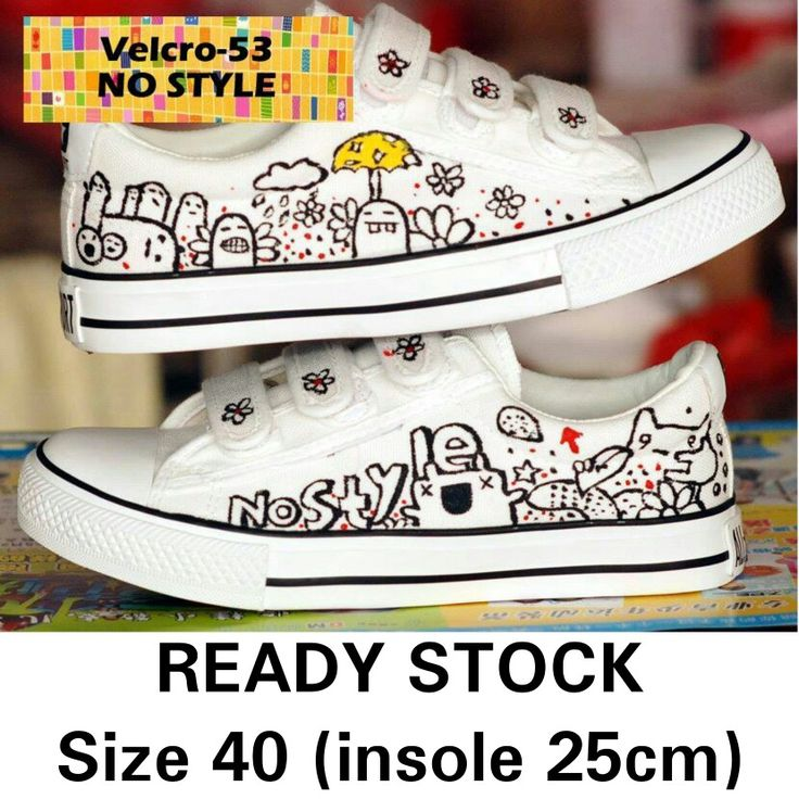 READY STOCK CANVAS SHOES KODE : Velcro-53 NO STYLE Size 40 PRICE : Rp.200.000,- AVAILABLE SIZE (insole) : - Size 40 (25cm)  MATERIAL : Canvas, Sol karet lentur,Gambar dilukis tangan(hand painted) menggunakan cat khusus textil yang tidak akan pernah luntur.  FOR ORDER : SMS/Whatsapp 087777111986 PIN BB 766A6420 Facebook : Mayorishop  #pusatsepatubootsanak #canvasshoes #paintedshoes #kidsshoes #toddlershoes #familyshoes #womenshoes #nostyle #sepatucanvas #sepatuimport #readystock #mayorishop…