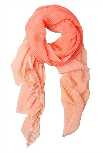 Ombre Pleat Scarf- the one in yellow