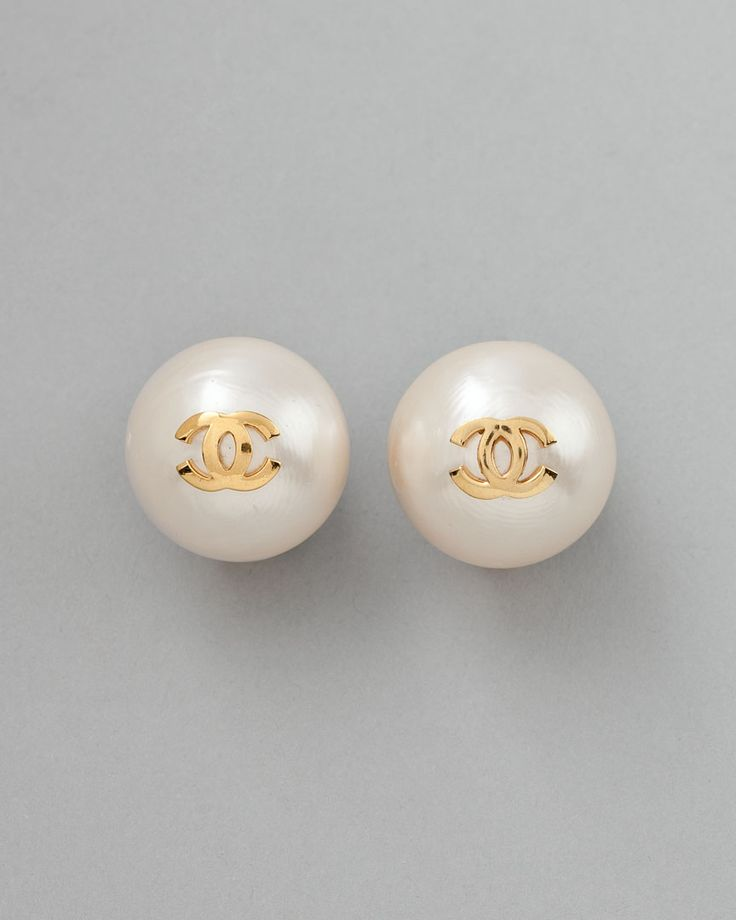 1960's Chanel Pearl CC Earrings