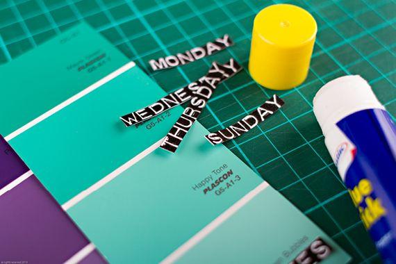 Chrystalace Wedding Stationery Daily planner DIY