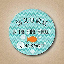 So Glad We're in the Same School Valentine Stickers