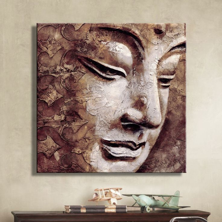 Oil Paintings Canvas Buddha Wall Art Decoration Artwork Home Decor On Canvas  Modern Wall Pictures For Living Room(1PCS)