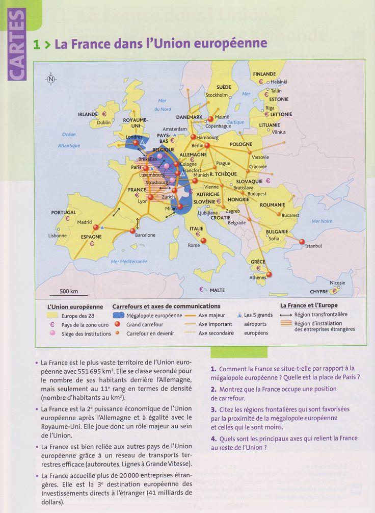 TBacPro-G1 : La France dans l'Union européenne. (Source : votre manuel Hachette technique)