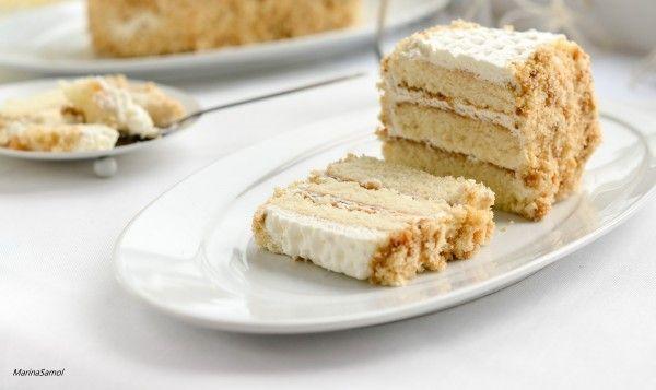 Торт с яблочным пюре нежнейший