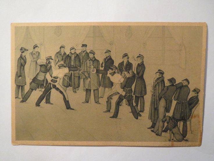 Marburg Mensur VOR 100 Jahren Studentika | eBay