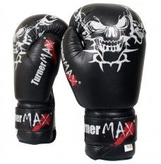 TURNERMAX BOXING GLOVES UK LEATHER SPARRING 10 OZ 12 OZ 14 OZ TRAINING BLACK  #boxingglovesuk #skullgloves #sparringgloves