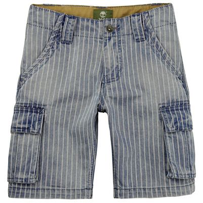 Timberland - Short en denim bleu stoné à rayures - 63508