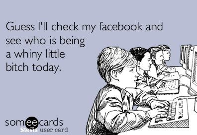 Ya.. Let's check facebook.. Ha!