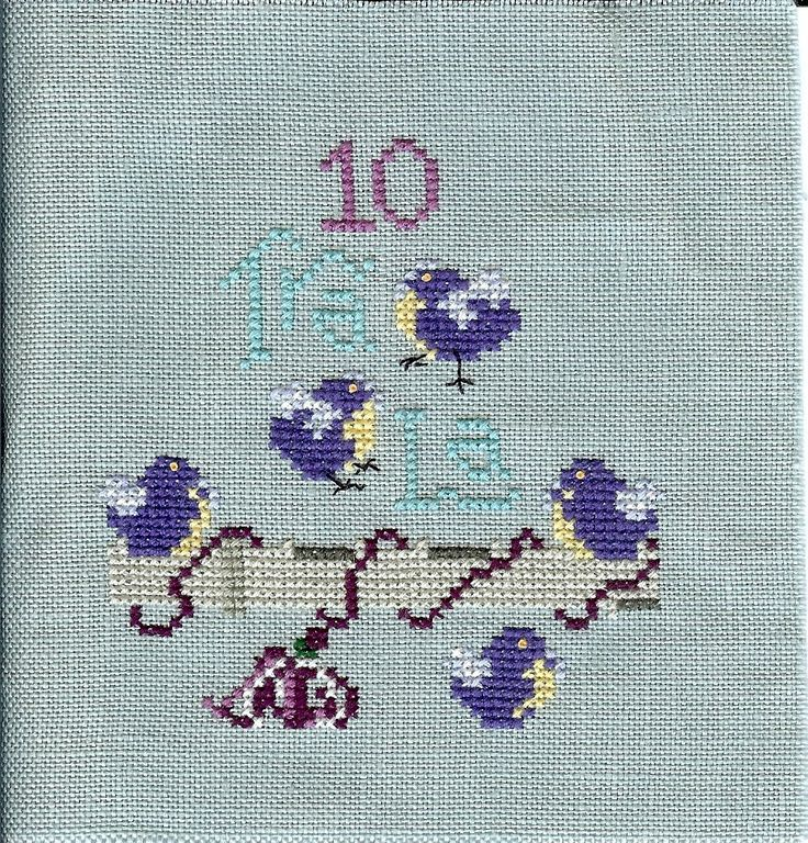 186 best 12 Days of Christmas stitching images on Pinterest ...