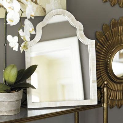 Beatriz Bone Mirror | Ballard Designs