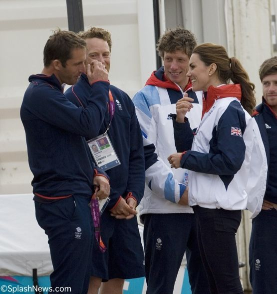 Kate Middleton Duchess of Cambridge visits Weymouth to Watch Olympic Sailing at the 2012 London Olympic Games