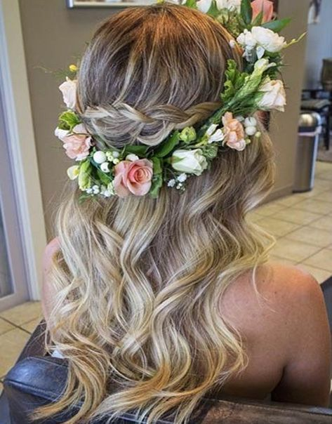 This flower crown is perfect for any bride