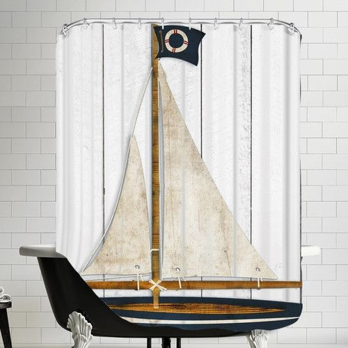 found it at wayfair sailboat shower curtain