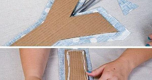 Fabric and Cardboard Wall Letters DIY | Quilling  A New Craft | Pinterest | Letters, Fabrics and DIY and crafts