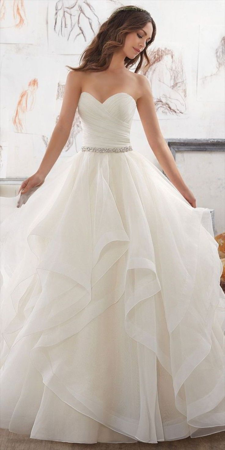 Marvelous 21 Fairytale Wedding Dresses of Your Dreams weddingtopia.co/… A wedd…